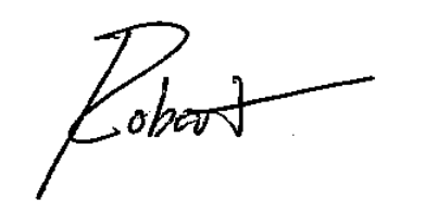 Robert handwritten logo